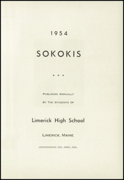 Page 3, 1954 Edition, Limerick High School - Sokokis Yearbook (Limerick, ME) online yearbook collection