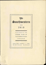 Page 17, 1910 Edition, Southwestern College - Moundbuilder Yearbook (Winfield, KS) online yearbook collection