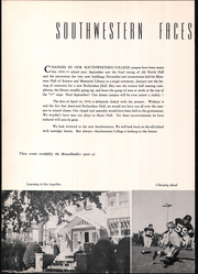Page 8, 1951 Edition, Southwestern College - Moundbuilder Yearbook (Winfield, KS) online yearbook collection