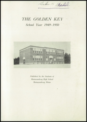 Page 3, 1950 Edition, Mattawamkeag High School - Golden Key Yearbook (Mattawamkeag, ME) online yearbook collection