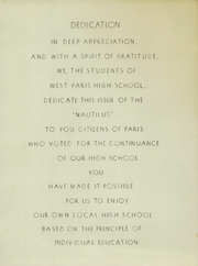 Page 3, 1950 Edition, West Paris High School - Nautilus Yearbook (West Paris, ME) online yearbook collection