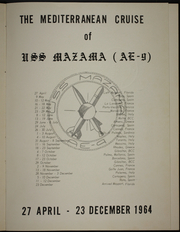 Page 5, 1964 Edition, Mazama (AE 9) - Naval Cruise Book online yearbook collection