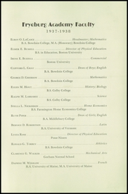 Page 7, 1938 Edition, Fryeburg Academy - Academy Bell Yearbook (Fryeburg, ME) online yearbook collection