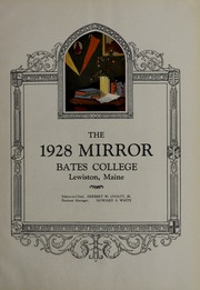 Page 7, 1928 Edition, Bates College - Mirror Yearbook (Lewiston, ME) online yearbook collection