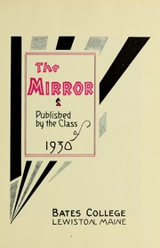 Page 7, 1930 Edition, Bates College - Mirror Yearbook (Lewiston, ME) online yearbook collection