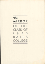 Page 9, 1935 Edition, Bates College - Mirror Yearbook (Lewiston, ME) online yearbook collection