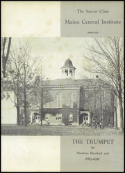 Page 5, 1958 Edition, Maine Central Institute - Trumpet Yearbook (Pittsfield, ME) online yearbook collection