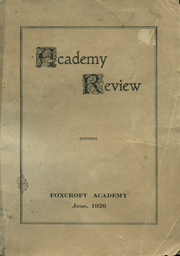 1926 Edition, Foxcroft Academy - Review Yearbook (Dover Foxcroft, ME)