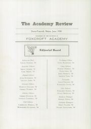 Page 6, 1930 Edition, Foxcroft Academy - Review Yearbook (Dover Foxcroft, ME) online yearbook collection