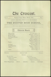 Page 13, 1916 Edition, Samuel D Hanson School - Crescent Yearbook (Buxton, ME) online yearbook collection
