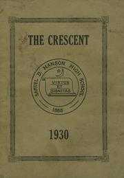 Page 1, 1930 Edition, Samuel D Hanson School - Crescent Yearbook (Buxton, ME) online yearbook collection