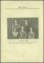 Page 14, 1930 Edition, Samuel D Hanson School - Crescent Yearbook (Buxton, ME) online yearbook collection