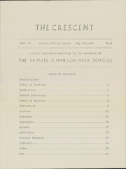 Page 5, 1941 Edition, Samuel D Hanson School - Crescent Yearbook (Buxton, ME) online yearbook collection