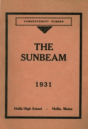 1931 Edition, Hollis High School - Sunbeam Yearbook (Hollis, ME)