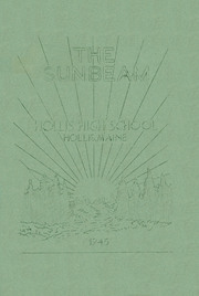 1945 Edition, Hollis High School - Sunbeam Yearbook (Hollis, ME)