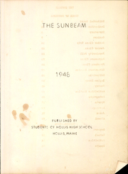 Page 3, 1948 Edition, Hollis High School - Sunbeam Yearbook (Hollis, ME) online yearbook collection