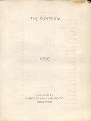 Page 3, 1950 Edition, Hollis High School - Sunbeam Yearbook (Hollis, ME) online yearbook collection