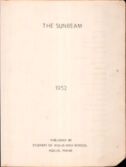 Page 3, 1952 Edition, Hollis High School - Sunbeam Yearbook (Hollis, ME) online yearbook collection