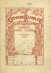 Page 1, 1926 Edition, Standish High School - Crimson Rambler Yearbook (Standish, ME) online yearbook collection