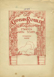 Standish High School - Crimson Rambler Yearbook (Standish, ME) online yearbook collection, 1933 Edition, Page 1