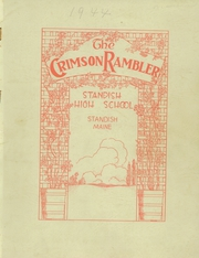 1944 Edition, Standish High School - Crimson Rambler Yearbook (Standish, ME)