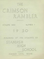 Page 3, 1950 Edition, Standish High School - Crimson Rambler Yearbook (Standish, ME) online yearbook collection