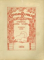 1954 Edition, Standish High School - Crimson Rambler Yearbook (Standish, ME)