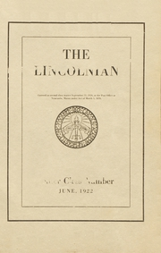 1922 Edition, Lincoln Academy - Lincolnian Yearbook (Newcastle, ME)