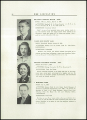 Page 14, 1942 Edition, Lincoln Academy - Lincolnian Yearbook (Newcastle, ME) online yearbook collection