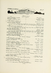 Page 145, 1927 Edition, University of Virginia - Corks and Curls Yearbook (Charlottesville, VA) online yearbook collection