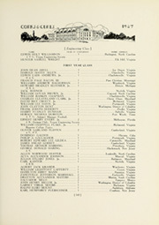 Page 155, 1927 Edition, University of Virginia - Corks and Curls Yearbook (Charlottesville, VA) online yearbook collection