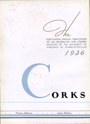 Page 5, 1936 Edition, University of Virginia - Corks and Curls Yearbook (Charlottesville, VA) online yearbook collection