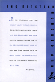Page 3, 1944 Edition, University of Virginia - Corks and Curls Yearbook (Charlottesville, VA) online yearbook collection