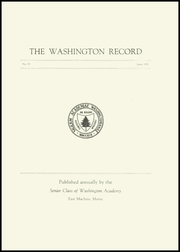 Page 3, 1951 Edition, Washington Academy - Record Yearbook (East Machias, ME) online yearbook collection