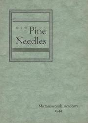 1944 Edition, Mattanawcook Academy - Pine Needles Yearbook (Lincoln, ME)