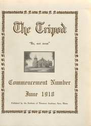 Page 1, 1918 Edition, Thornton Academy - Tripod Yearbook (Saco, ME) online yearbook collection