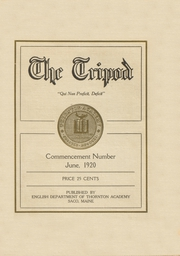 Page 1, 1920 Edition, Thornton Academy - Tripod Yearbook (Saco, ME) online yearbook collection