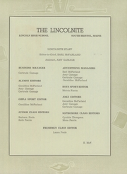 Page 7, 1941 Edition, Lincoln High School - Lincolnite Yearbook (South Bristol, ME) online yearbook collection
