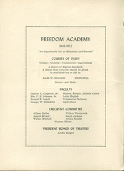 Page 2, 1952 Edition, Freedom Academy - Echo Yearbook (Freedom, ME) online yearbook collection