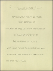 Page 3, 1950 Edition, Waterboro High School - Eavesdropper Yearbook (Waterboro, ME) online yearbook collection