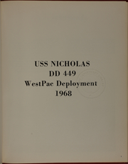 Page 5, 1968 Edition, Nicholas (DDE 449) - Naval Cruise Book online yearbook collection