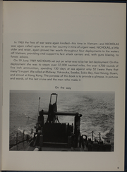 Page 7, 1969 Edition, Nicholas (DDE 449) - Naval Cruise Book online yearbook collection