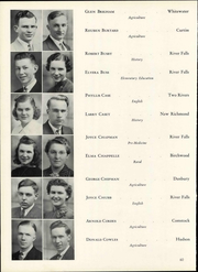 Page 66, 1940 Edition, Wisconsin State Teachers College - Meletean Yearbook (River Falls, WI) online yearbook collection