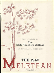 Page 9, 1940 Edition, Wisconsin State Teachers College - Meletean Yearbook (River Falls, WI) online yearbook collection