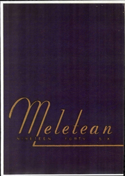 Wisconsin State Teachers College - Meletean Yearbook (River Falls, WI) online yearbook collection, 1946 Edition, Page 1