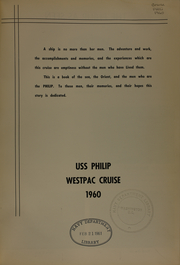 Page 5, 1960 Edition, Phillip (DD 498) - Naval Cruise Book online yearbook collection