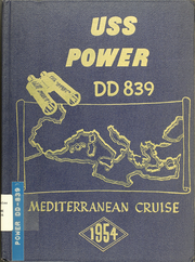 Page 1, 1954 Edition, Power (DD 839) - Naval Cruise Book online yearbook collection