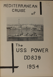 Page 5, 1954 Edition, Power (DD 839) - Naval Cruise Book online yearbook collection