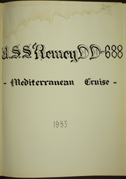 Page 5, 1953 Edition, Remey (DD 688) - Naval Cruise Book online yearbook collection