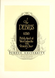 Page 9, 1926 Edition, Purdue University - Debris Yearbook (West Lafayette, IN) online yearbook collection